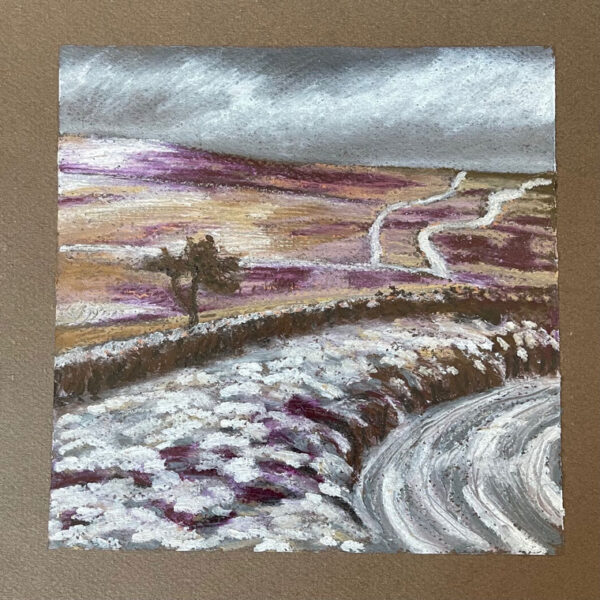 A Wintery Dartmoor Landscape by Sally Kirk