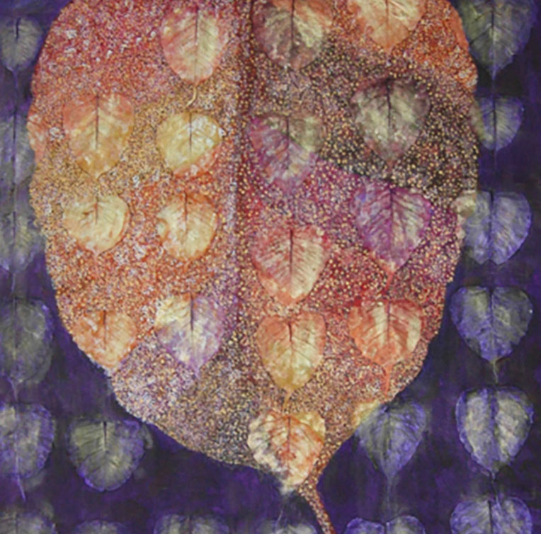 Autumn Leaves by Sally Kirk, artist on Dartmoor, @salkirkart