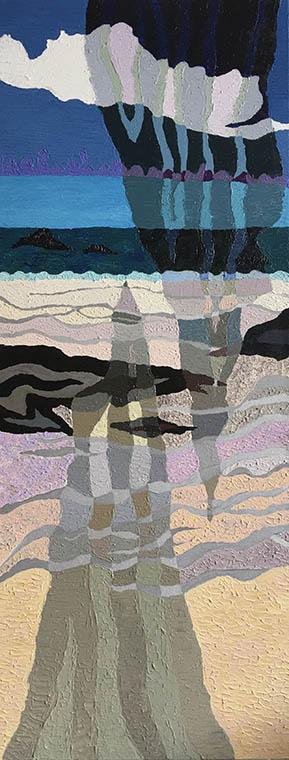 The Azure World, painting by Sally Kirk, artist on Dartmoor, @salkirkart