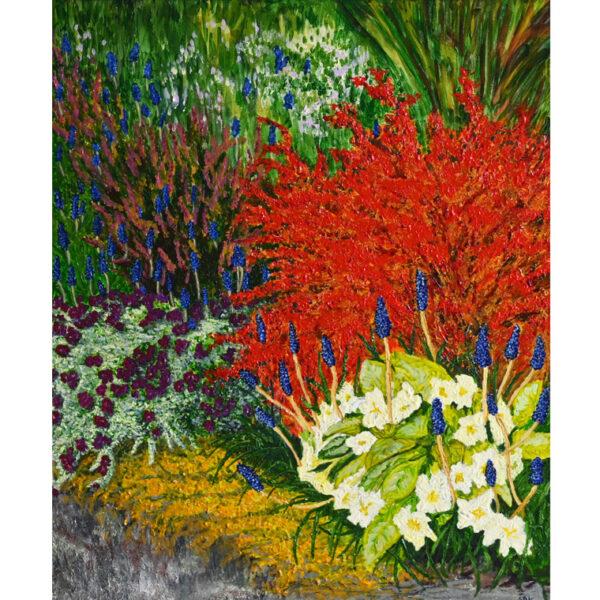 Sweet Returning Spring, painting by Sally Kirk , artist on Dartmoor, @salkirkart