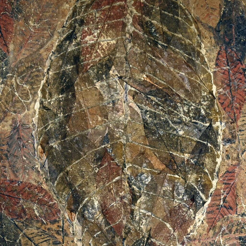 Golden Patchwork, mixed media painting by Sally Kirk, artist on Dartmoor, @salkirkart