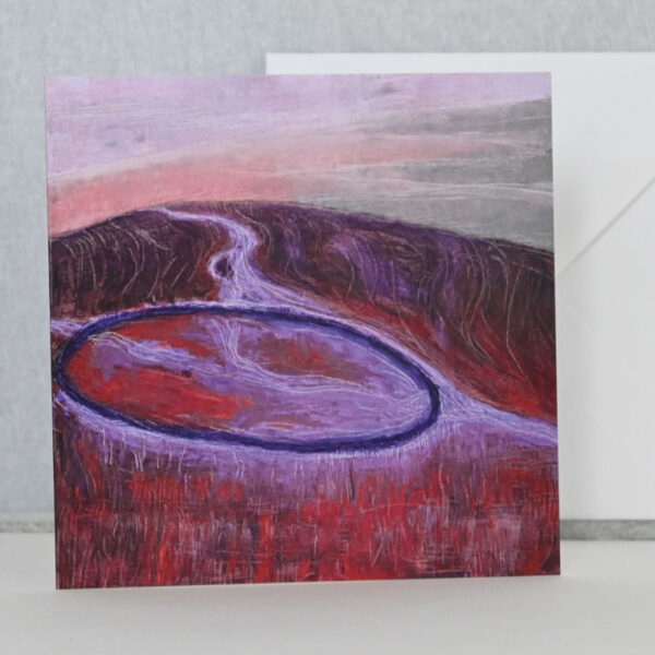 The Sound of the Wind by Sally Kirk, art card and envelope